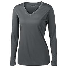 731f29872f40a Joe s USA - Ladies Long Sleeve Moisture Wicking Athletic Shir .