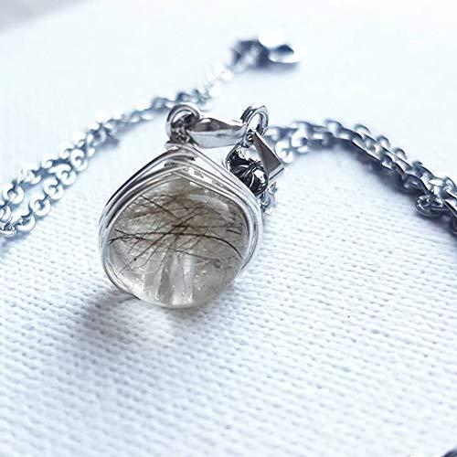 Tierhaarschmuck - Perle mit 925 Sterling Silber Kette, Erinnerungsschmuck, Silberschmuck, filigrane Halskette
