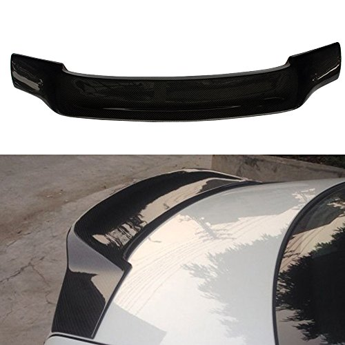 V Style Carbon Fiber CF Rear Trunk Wing Deck Lid by IKONMOTORSPORTS Trunk Spoiler Compatible With 2010-2017 Mercedes-Benz E Class W207 C207 2Dr Coupe