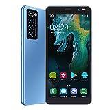 Smartphone, 5Mp + 2Mp Cámaras 1GB + 8GB Tarjetas Duales Smartphone con Doble Modo De Espera, para Gift Man(Azul)