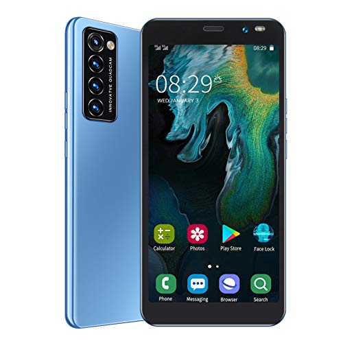 Unlocked Cell Phones 3G, Rino4 Pro Android Phones Unlocked Smartphones, 5.45in Full HD Screen, 1GB+8GB, Triple Camera, Face/Fingerprint Unlock, Dual SIM, GPS, WiFi(Blue)