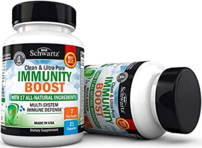 Immunity Boost Supplement with Elderberry, Vitamin A, Echinacea & Zinc - Once Daily Multi-System Immune Defense - Promotes Healthy Stress Response - Supports a Healthy Respiratory System