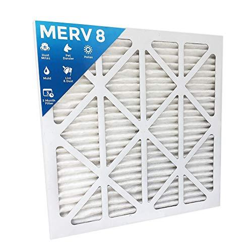 MERV 8 Luftfilter, synthetisch, plissiert, 20 x 25 x 1, 12 Stück