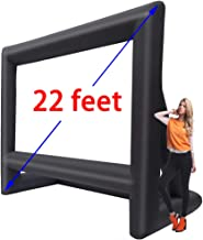 22' Inflatable Outdoor Projector Movie Screen - Huge Air-Blown Cinema Projection Screen Package with Rope, Blower + Tent Stakes - Great for Outdoor Party Backyard Pool Fun (22 feet)