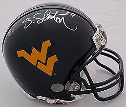 Steve Slaton West Virginia Mountaineers Autographed Mini Helmet - Certified Authentic - NCAA Licensed - West Virginia Mountaineers Collectibles