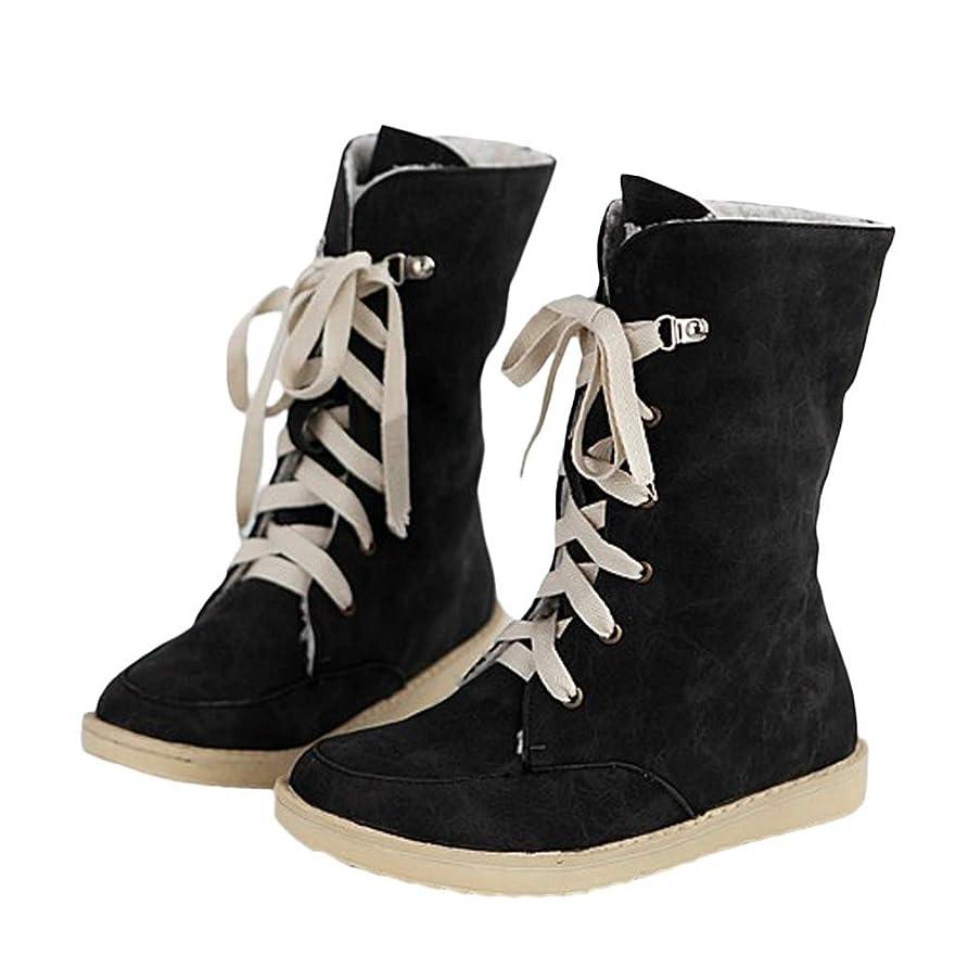 高尚な不条理航空会社[Cozy Maker] C&M マーティンブーツ レディース ロングブーツ 厚底 痛くない 滑り止め レースアップ 軽量 歩きやすい 編み上げシューズ 靴 フラット スエード調 暖かい コスプレシューズ