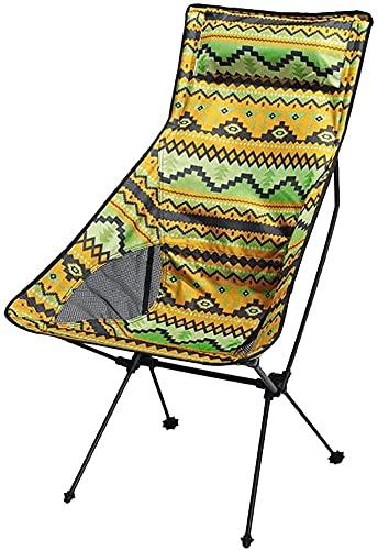 LYYJIAJU Portatil Silla de Camping Plegable Sillas de Camping compactas Ligeras Plegables...