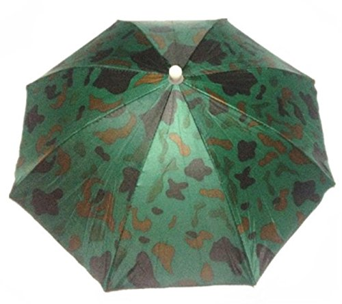 PriMI Creative elastisches Haarband Camouflage Muster Sonne Regen Regenschirm-Hut Cap