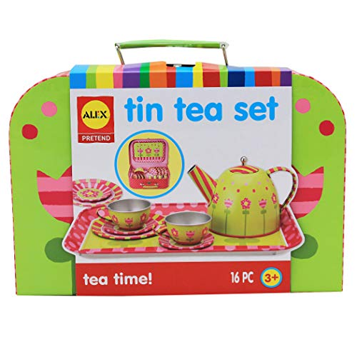 Alex Pretend Tea Time Kids Tea Set, 16 Piece