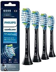 Philips Sonicare C3 Premium Plaque Defence - 4 Stuks - Verwijdert tandplak - Selecteer automatisch de optimale poetsstand - Geschikt voor alle Philips Sonicare tandenborstels - HX9044/33