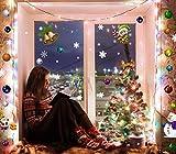 MEGAPACK más de 100 Vinilos individuales reposicionable fácil aplicación DOBLE VISION   Pegatinas navidad ventanas   Adornos Navidad, navideños, estrellas, elfo, muñeco nieve, bolas, campanas, regalos
