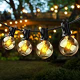 String Lights - Baxstel G40 with 27pcs Edison Light Bulbs, 25FT Clear Globe Patio Lights Outdoor Waterproof for Backyard Porch Balcony Indoor/Outdoor Commercial Decoration…