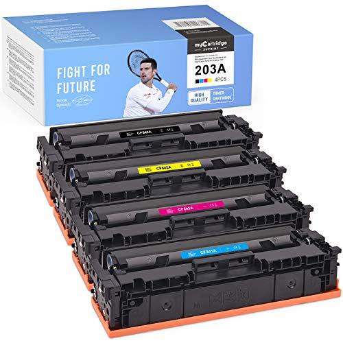 myCartridge SUPRINT HP 203A - Tóner compatible con HP 203A CF540A CF541A CF542A CF543A para HP Color Laserjet Pro MFP M281fdw M254nw M281fdn M281cdw M280nw M254dn M281(negro, cian, magenta y amarillo)
