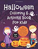 Halloween Coloring and Activity Book for Kids: 50+ Coloring Pages, Word Search, Crossword, Image Search Challenge, Sudoku, and Maze Puzzles in Halloween Theme for Boys, Girls, ages 4-8