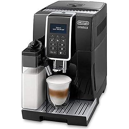 【アドバンスモデル】デロンギ(DeLonghi) コンパクト全自動コーヒーメーカー ディナミカ ミルクタンク付 ブラック ECAM35055B