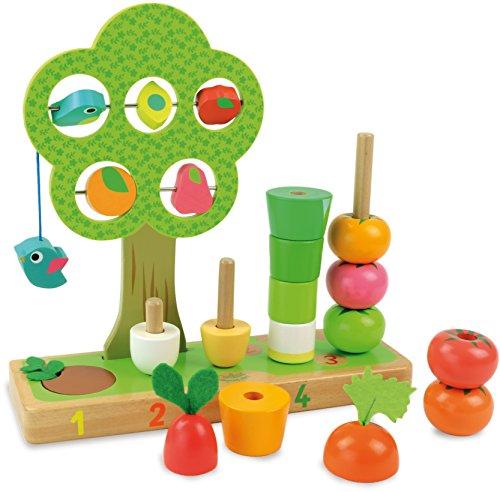 Vilac - 2469 -Jouet En Bois J'apprends À Compter Les Légumes