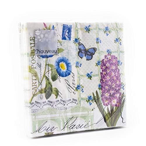 Tovaglioli di carta monouso, Saluti di primavera, 20 pezzi 3 strati - 25 x 25 cm