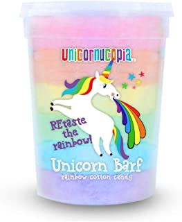 Unicorn Barf Cotton Candy - RAINBOW LAYERS- Unicorn Party Favors Supplies Birthday Treats for Kids & Adults - STOCKING STUFFER