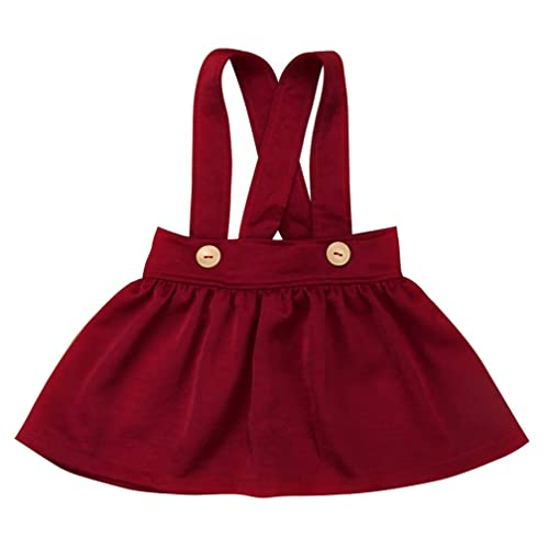 fbf0103b666 Specialcal Baby Girls Velvet Suspender Skirt Infant Toddler Ruffled Casual  Strap Sundress Summer Outfit Clothes
