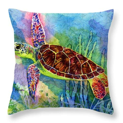 Lplpol Sea Turtle Throw Pillow Covers Cotton Linen Square Decorative Throw Cushion Cover 18 x 18