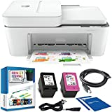 HP DeskJet Plus 4155 Wireless All-in-One Printer, Mobile Print, Scan, Copy, Instant Ink Ready, Auto Document Feeder, Works with Alexa 3XV13A Bundle w/DGE Cable + Small Business Productivity Software