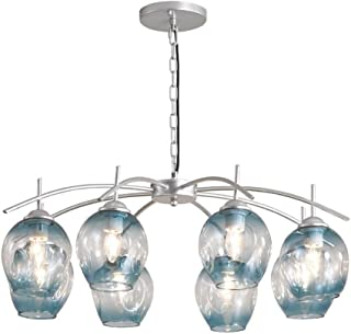 Modern Chandeliers Modern LED Ceiling Light Living Room Dining Room Bedroom Gloss Hanging Glass Ceiling Light Lighting Chandeliers (Color : Blue)