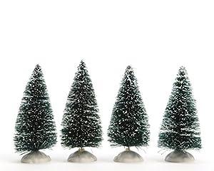 Weihnachtsdeko Deko Tischdeko Weihnachtsbaum verschneit Baum miniatur H 10 cm 4 er Set
