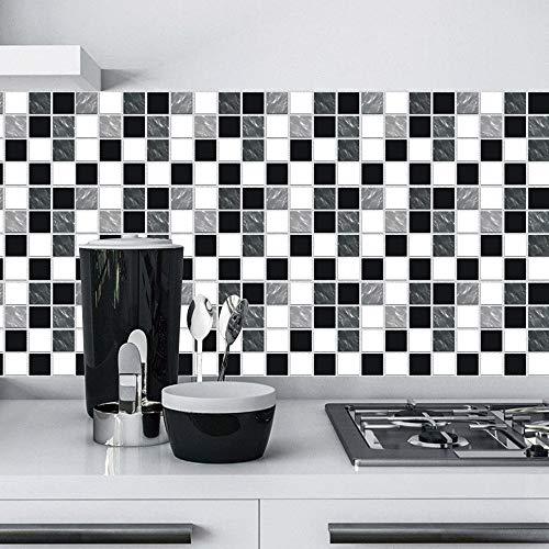 """Adesivi per piastrelle da parete Decalcomanie per piastrelle Adesivo per cucina Soggiorno Bagno Decorazioni per la casa Autoadesivo (24pcs - 20*20CM/7.9""""*7.9"""")"""