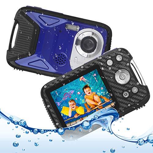 Waterproof Digital Camera, Heegomn 2.8' LCD Screen 1080P Underwater Digital Camera, 16MP Digital Video Camera Waterproof Camcorder Underwater Cameras for Kids/Teenagers/Beginners