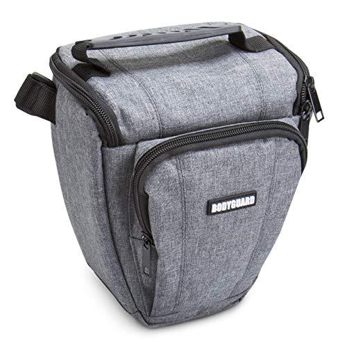 Bodyguard Borsa fotografica SLR Colt Easy grigio, ADATTA PER Nikon D800 D3500 D5300 D5600 D7500 Canon EOS 2000D 4000D 750D 200D 77D 80D