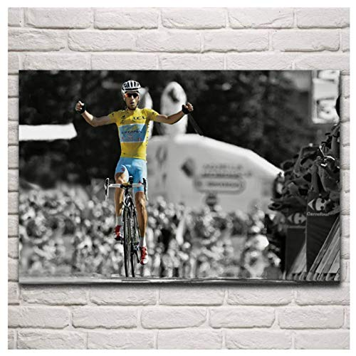 HJZBJZ Sportwettbewerb Victory Bikecycle Race Nibali Tour Wohnzimmer Wandkunst Poster Leinwanddrucke Wohnkultur -20x28 Zoll No Frame 1 PCS