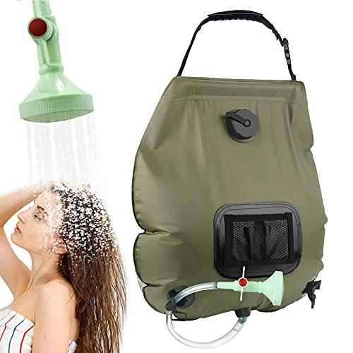 KIPIDA Solar Shower for Camping, 20L Solar Shower Bag, Solar Portable...