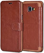 Samsung Galaxy A3 Case,Mulbess [Layered Dandy][Coffee Brown] - [Card Slot][Flip][Slim Fit] - PU Leather Wallet Case For Samsung Galaxy A3 (2016)