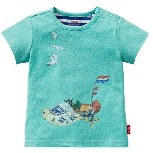 Oilily - Camiseta de Manga Corta - para niña Turquesa 9 Mes