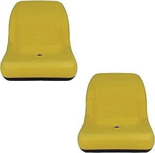 LVA10029 (2) Two Yellow Low Back Seat For John Deere Gator