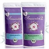 NAROMA Zyklustee 1 und 2 Set mit Mönchspfeffer Tee- Frauentee 1 & 2 - 100 % BIO - 130 gr - Frauen Tee