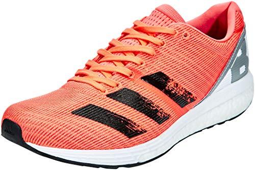adidas Men's Adizero Boston 8 M Running Shoe, Signal Coral/CORE Black/FTWR White, 6.5 UK