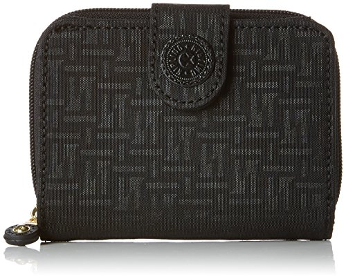 Kipling Damen NEW MONEY Geldbörse, Schwarz (Black Pylon Emb), 9.5x12.5x3 cm