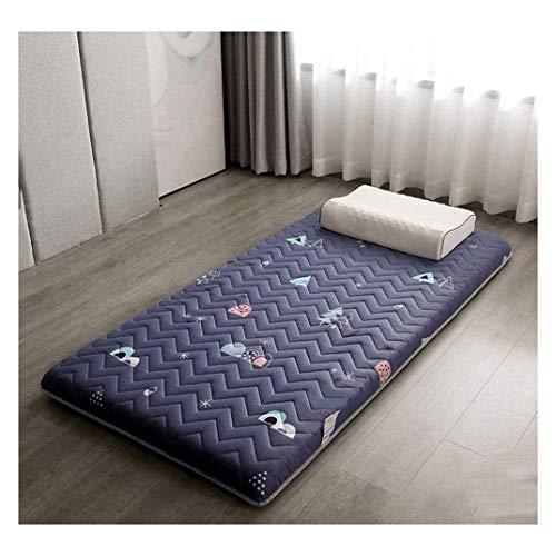 Tatami - Alfombrilla tradicional japonesa para cama de dormir, para estudiantes, colchón, gruesa, plegable, lavable, suave, enrollable, 80 x 190 cm