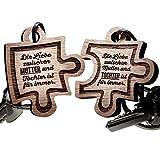 Schlüsselanhänger aus Holz für Mutter und Tochter