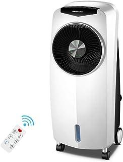 Mobil Air Evaporative kylfläkt vit, tyst liten luftkonditionering med fjärrkontroll, luftfuktare, luftrenare, fläkt 3-i-1,...