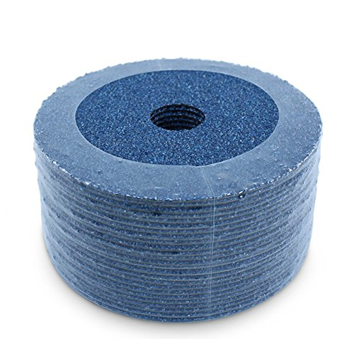 "BHA Zirconia Resin Fiber Sanding and Grinding Discs, 4.5"" x 7/8"", 36 Grit - 25 Pack"