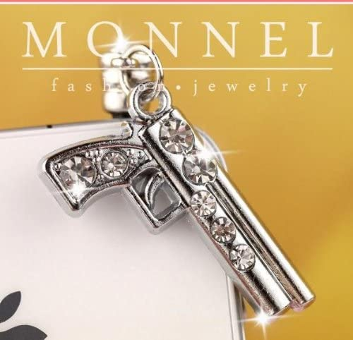 Elegant IP05-B Clear Special sale item Crystal Little Gun Pistol Pl Anti Mobile Dust Phone