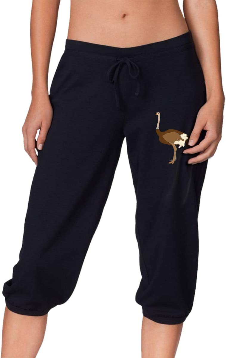 Outlet ☆ Free Shipping MOCSTONE Women's Jogger Capri Selling rankings Pants French Funny Terry C Ostrich