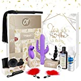 Premium Sex Toy Sets for Couples, BOMBEX Love Gift Box, 12 Sex Toys with Bondage Accessories for Couple's Gift idea (Rabbit Sets)