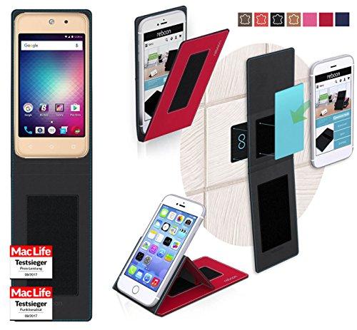 reboon Hülle für BLU Vivo 5 Mini Tasche Cover Case Bumper   Rot   Testsieger