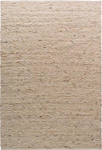 TISCA Teppich aus Schurwolle LIV Sand (Verschiedene Größen) 90 x 170 cm