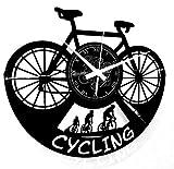 Instant Karma Clocks Orologio da Parete Sport Bici Bicicletta Ciclismo Cycling Appassionato, PVC, Mountain Bike, Idea Regalo