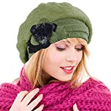 Ruphedy Boina Mujer Elegante Lana Boina Gorro Vestido Sombrero de Invierno Hy022