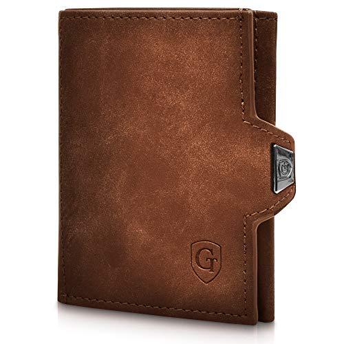 GenTo Smartlet - Cartera delgada y inteligente - Bloqueo RFID - Carteras de bolsillo frontal minimalista para hombres y mujeres - Mini Monedero para hombre - delgado tarjetero - - Small